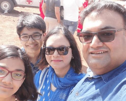 Atta en zijn gezin op de foto in Libanon in 2019