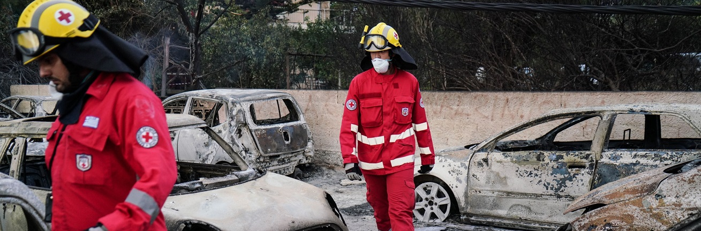 De bosbranden in Griekenland overvielen veel mensen