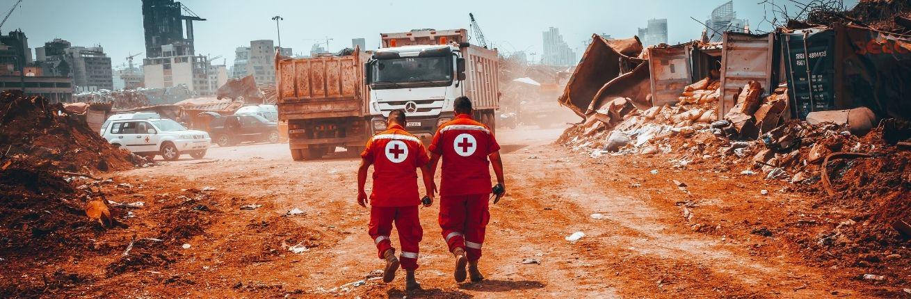 Rode Kruis-hulpverlening maand na explosie Beiroet in volle gang