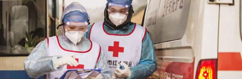 Vrijwilligers Chinese Rode Kruis