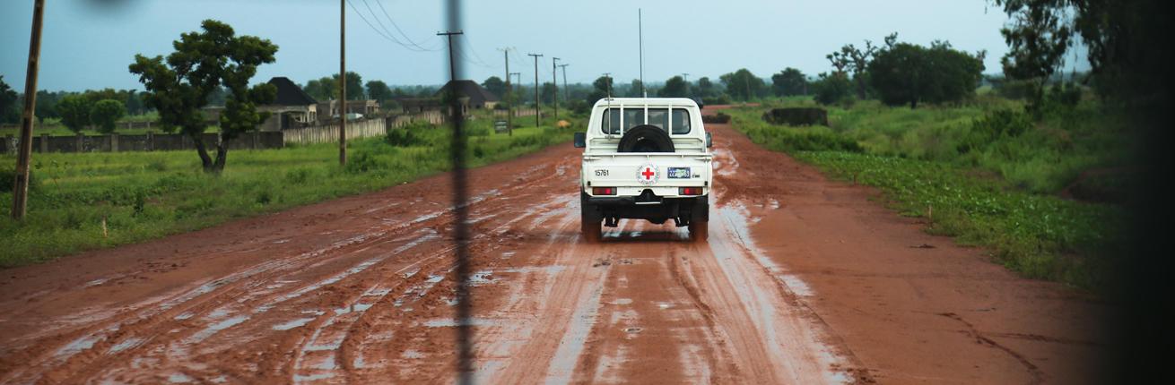 Rode Kruis auto in Nigeria