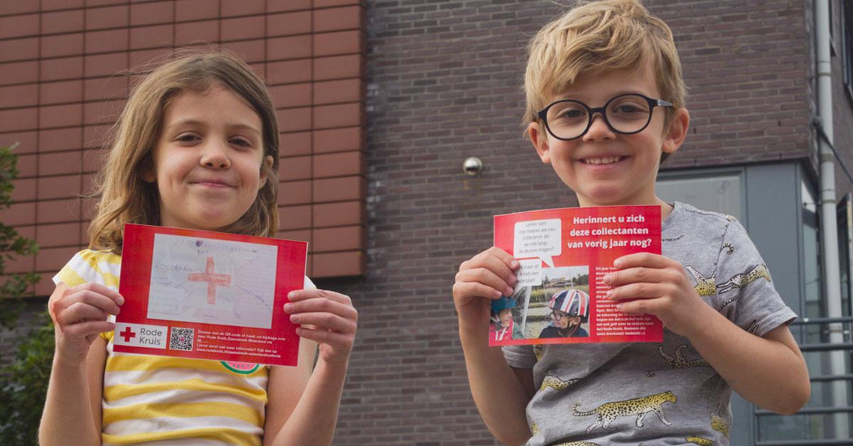 Eise en Klaartje steunen het Rode Kruis met een eigen actie