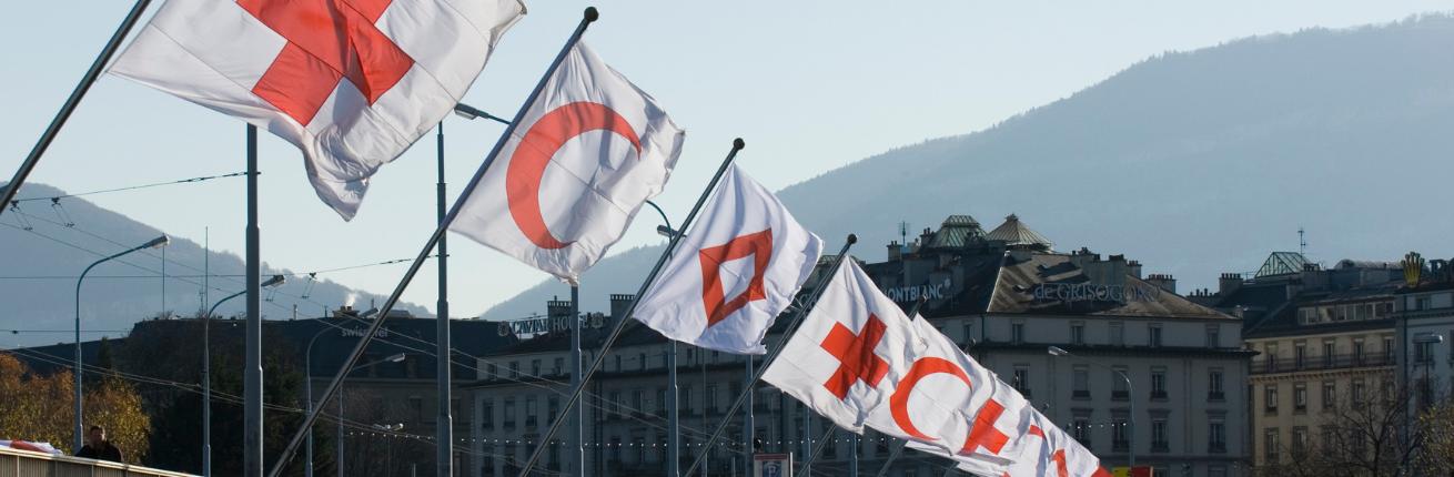 Rode Kruis vlaggen Genève