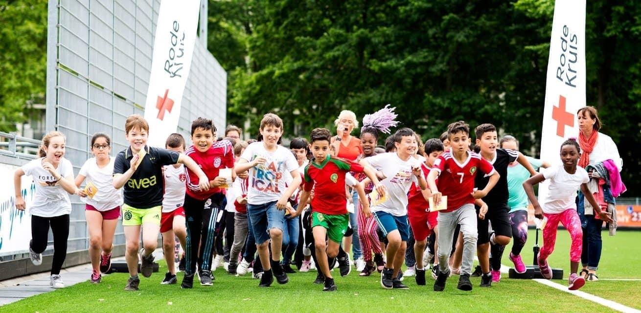 Sponsoractie met de basisschool voor het Rode Kruis