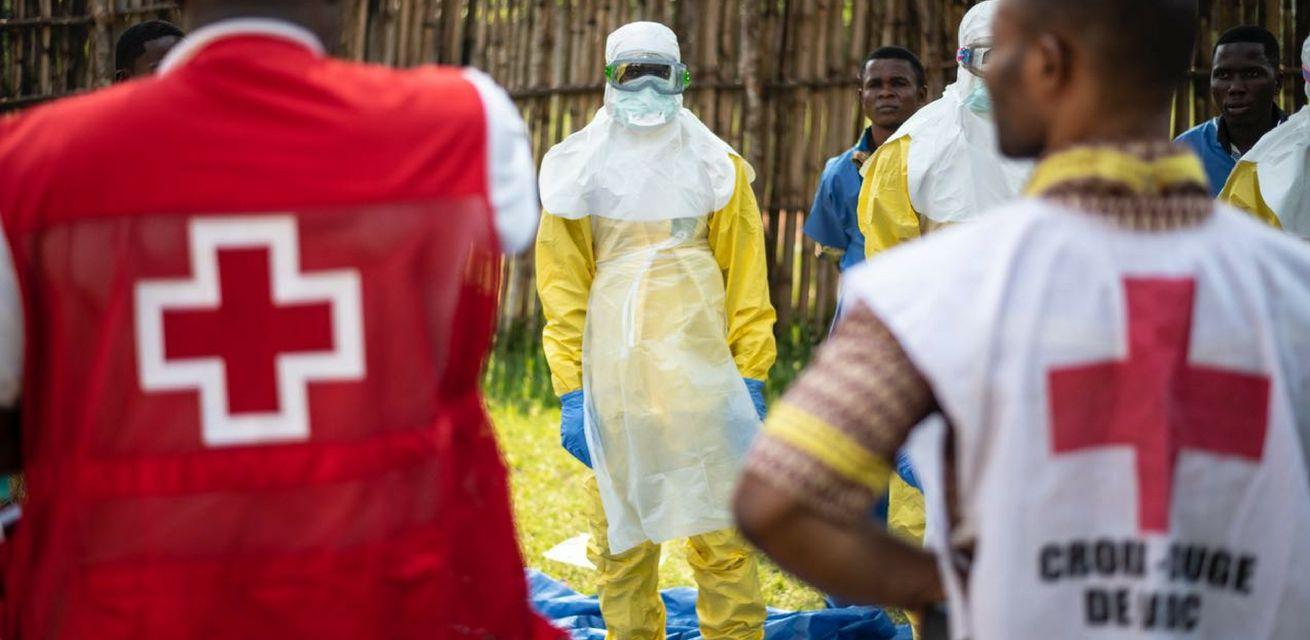 hulpverleners rode kruis ebola