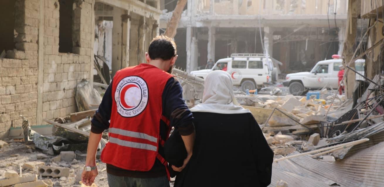 Doe een donatie aan het Rode Kruis - Doneren - Rode Kruis helpt vrouw in Syrie