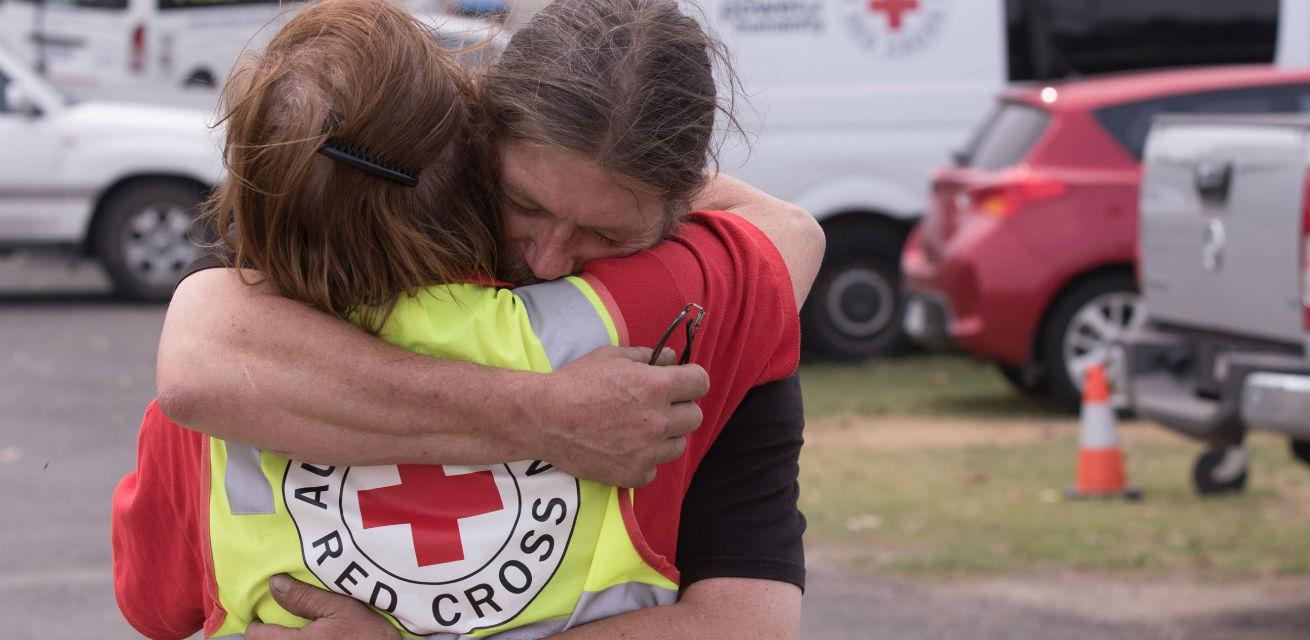 rode kruis hulpverlener bosbrand Australië