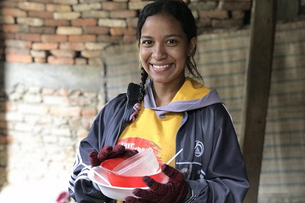 vrouw op de vlucht venezuela