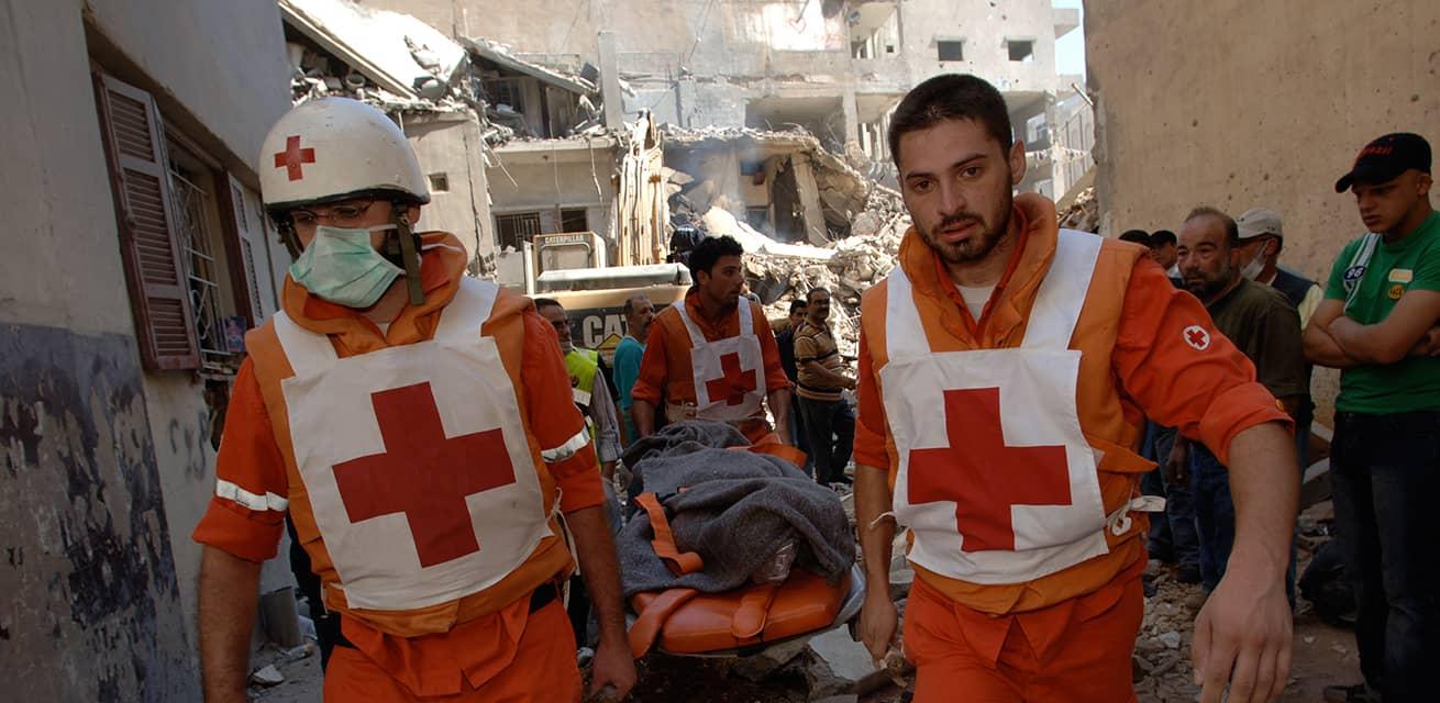 Zakelijk doneren aan het Rode Kruis voor internationale hulpverlening