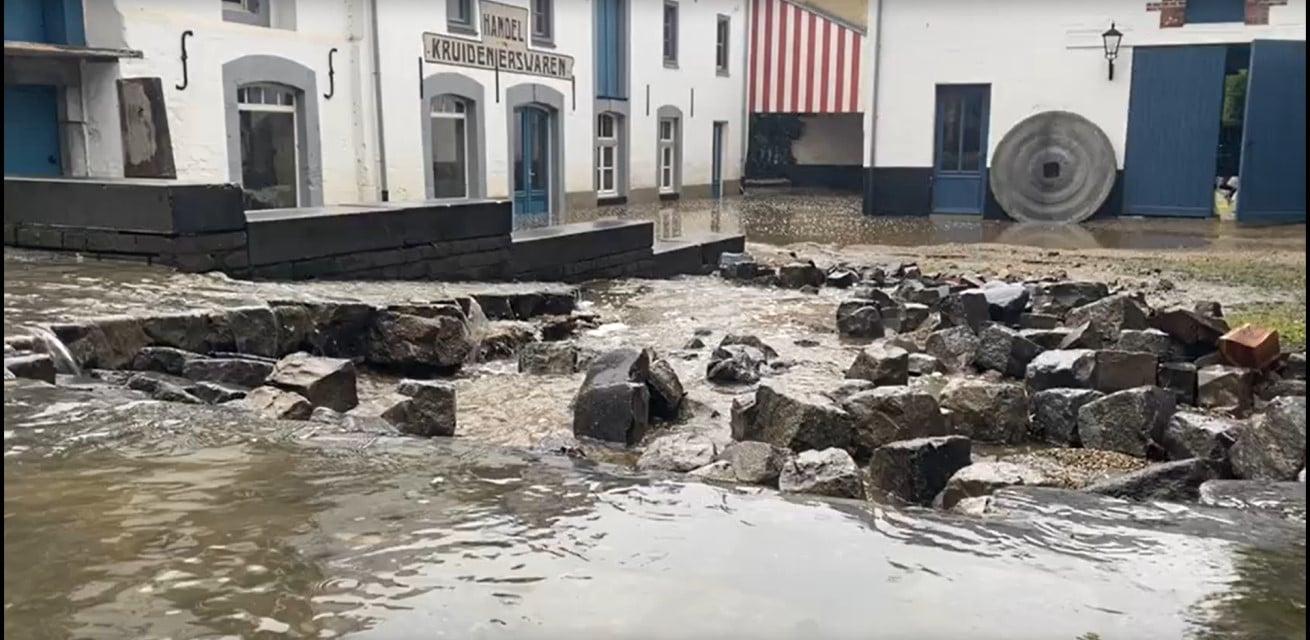 wateroverlast in limburg Rode Kruis